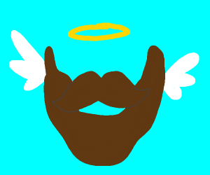 Beard flies away into heaven