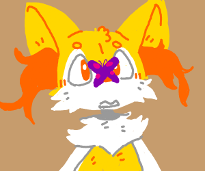 Fennec w/ a butterfly on its nose