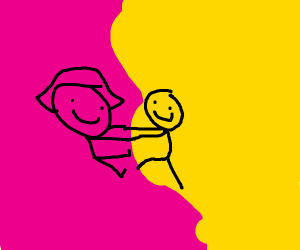 Magenta and Yellow get frisky at a dance