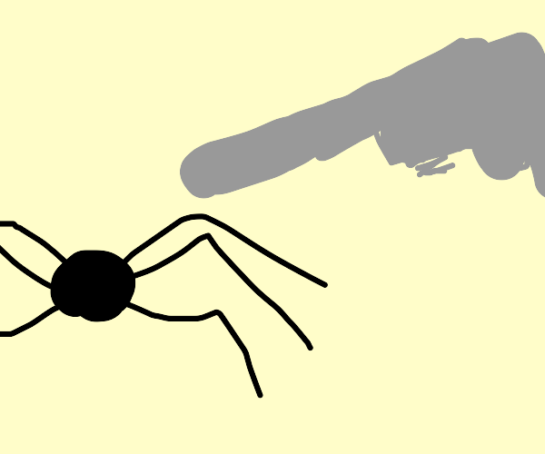 Killing a spider with a machine gun