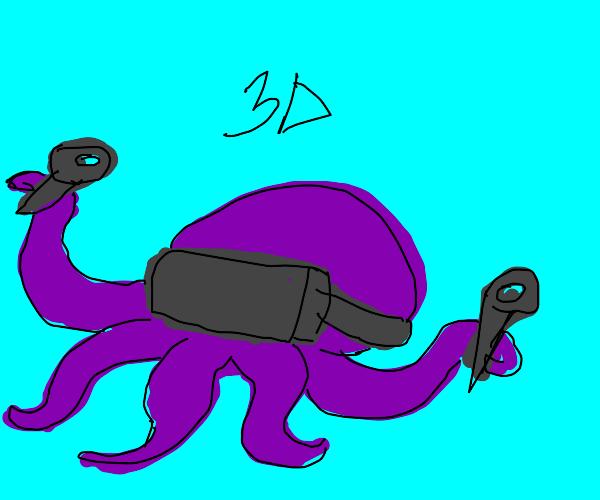 octopus in 3d