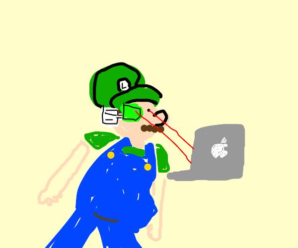 Cyber-Luigi hacks an iMac