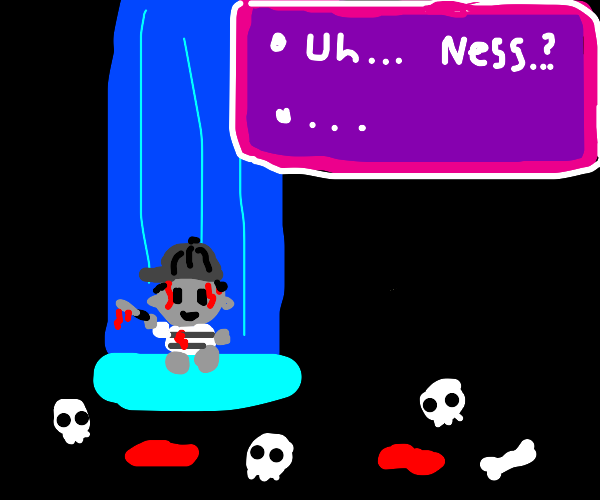 Ness going crazy and covered in blood