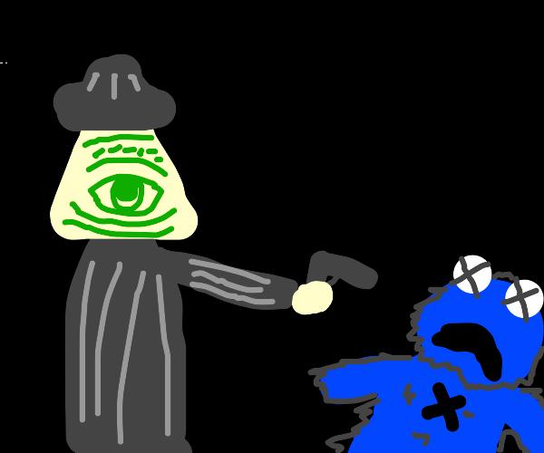 the illuminati mafia disposes of cookie monst