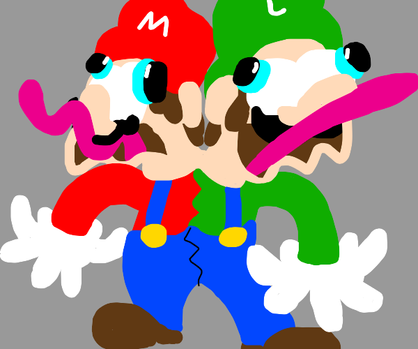 Mario and Luigi are conjoined twins