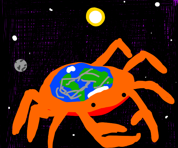 The world is a crab