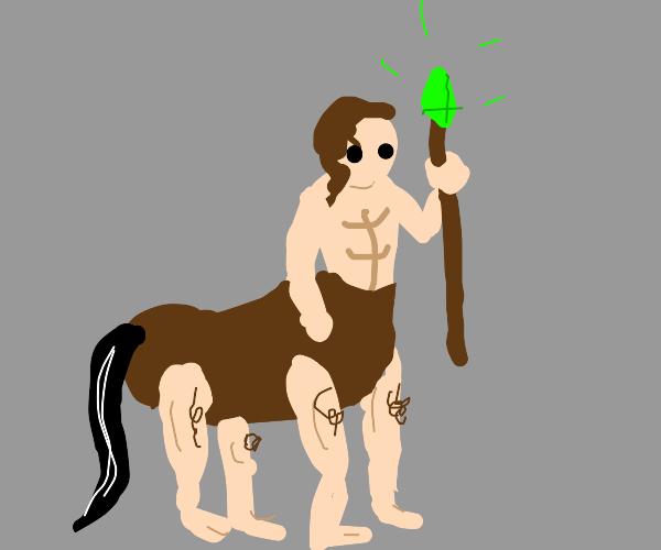 A humantaur (Centaur but with human legs))