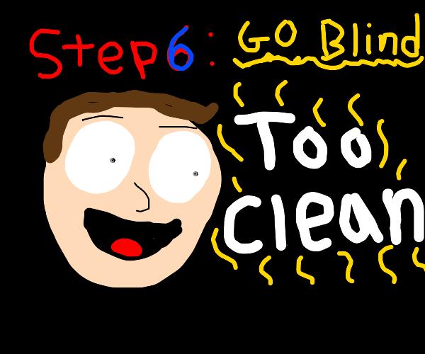 step 5 : clean the kitchen