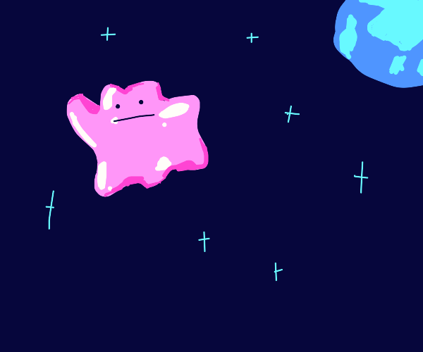 Mysterious purple goo floating in space
