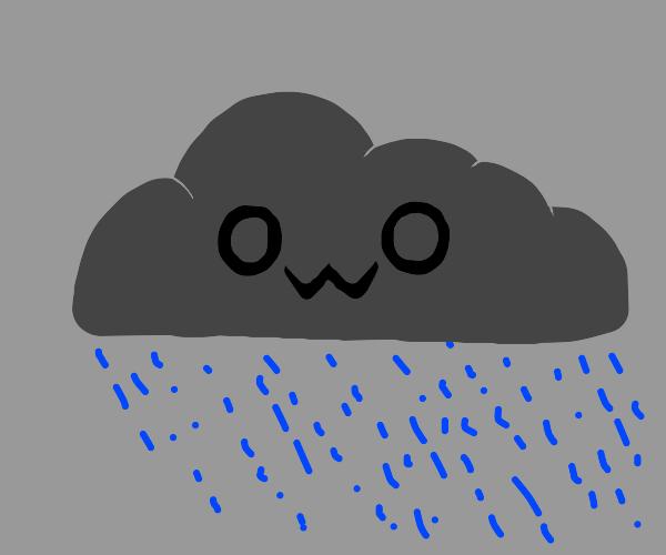 Rain cloud with owo face