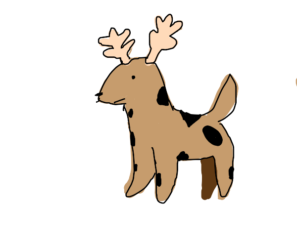 dog reindeer cow thing... wtf