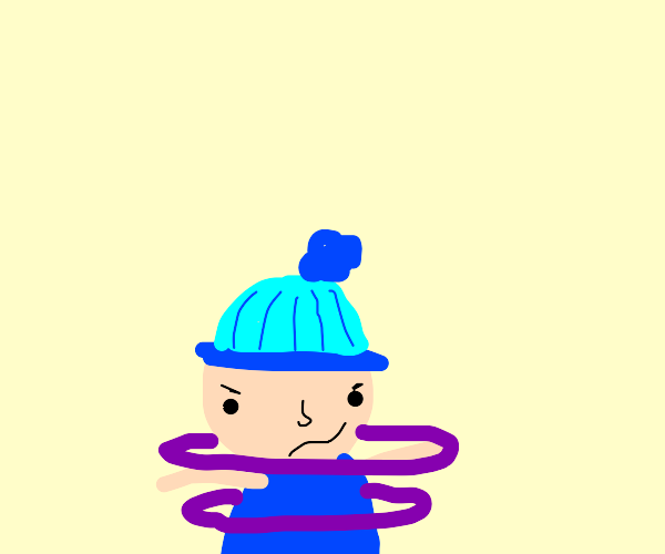 Ike from south park mixed with Mr. Saturn