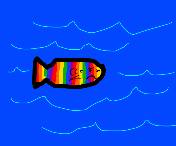 Flustered rainbow-scaled fish