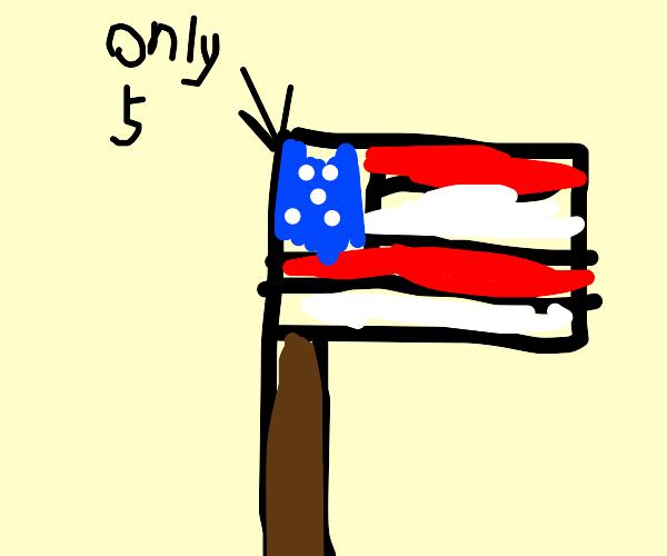 Five-star flag
