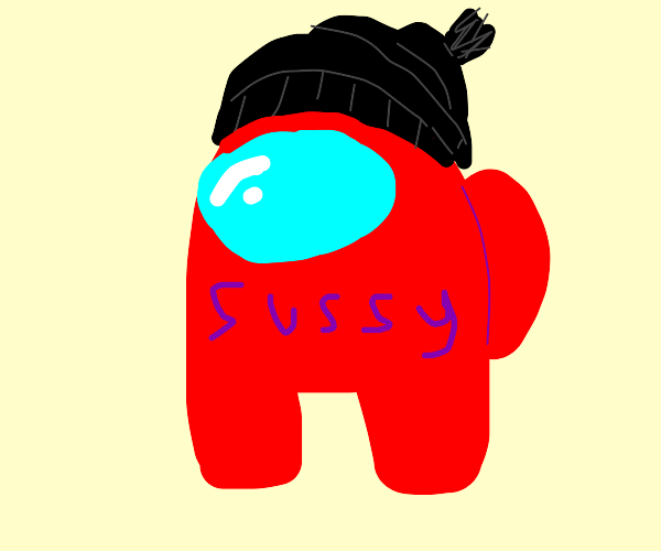 red sussy with beanie