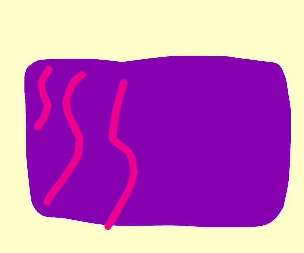 Purple carpet with nice magenta+blue design