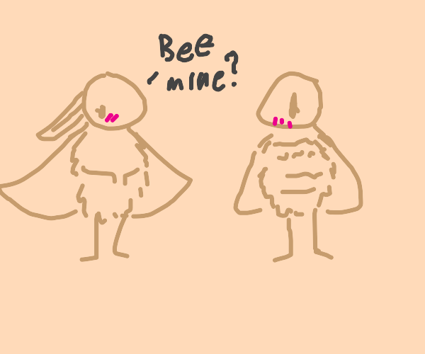 a moth girl and her bee gf
