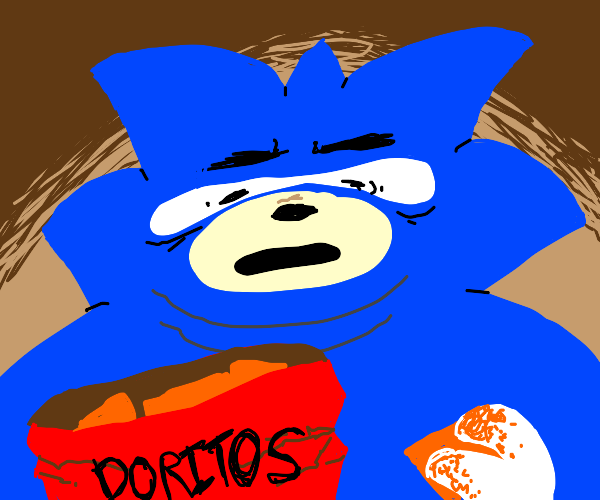 Sonic has become obese due to Doritos.