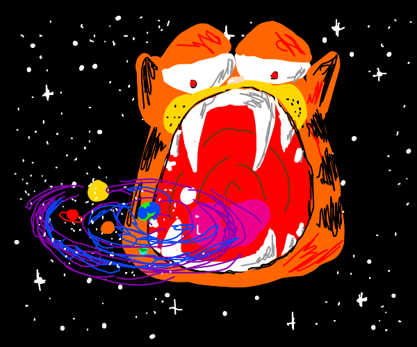 Garfield becomes god and vores the universe