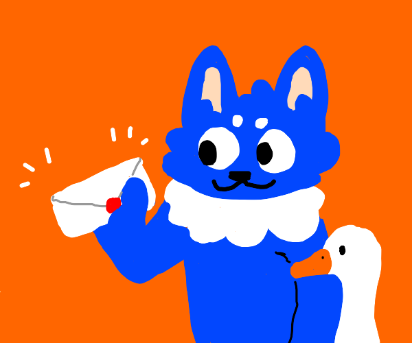 A furry with pet goose sends a letter