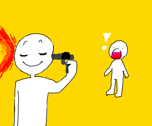 Shocked when someone clamly shoot himself.