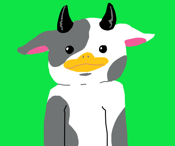 Furry with cowduck fursuit