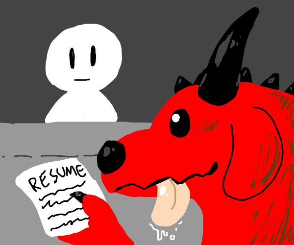 dragon dog gives resume