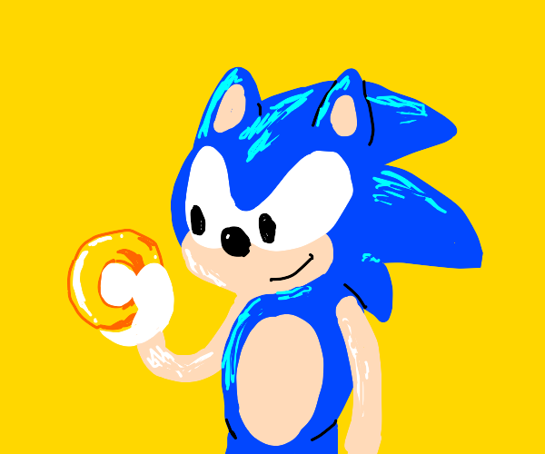 Sonic is holding a ring