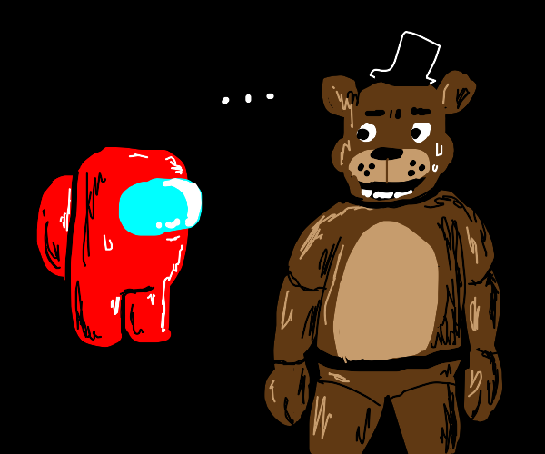 among us and fnaf meet