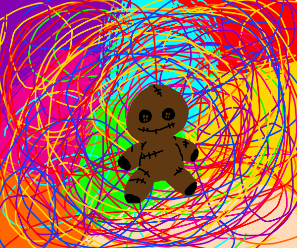 Brown doll in a different universe