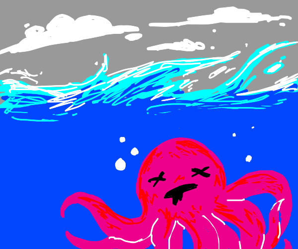 octopus heccking dies