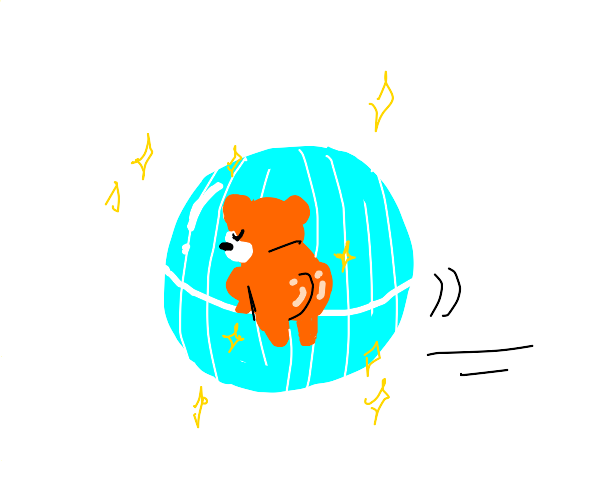 thicc hamster in a hamster ball