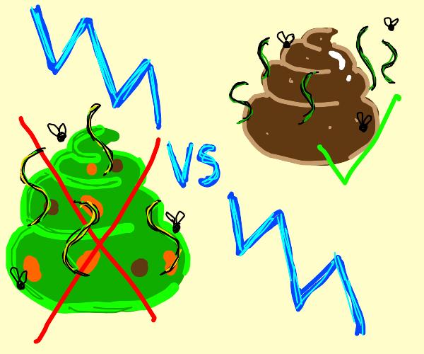 polished turd yes vs moldy turd no