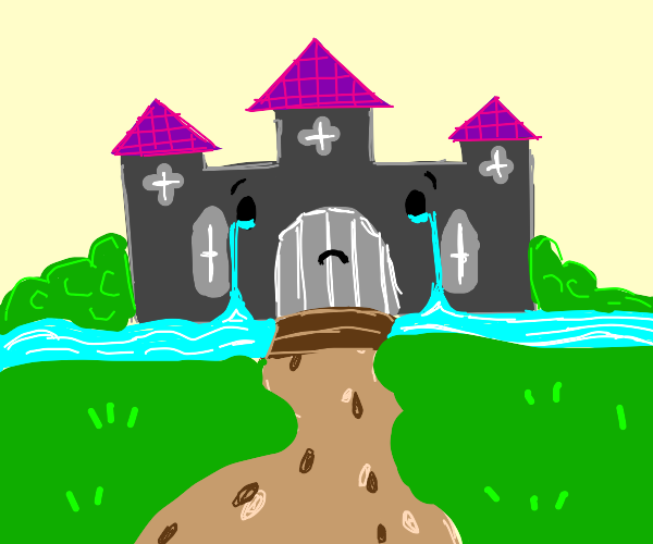 so theres a castle and its crying. wild ik.