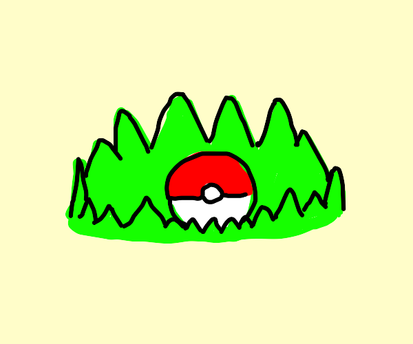 Pokeball in the grass