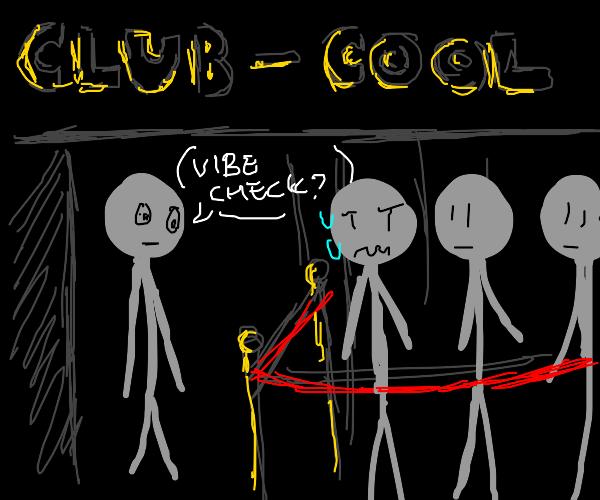 stickman vibe checks other stickman with club