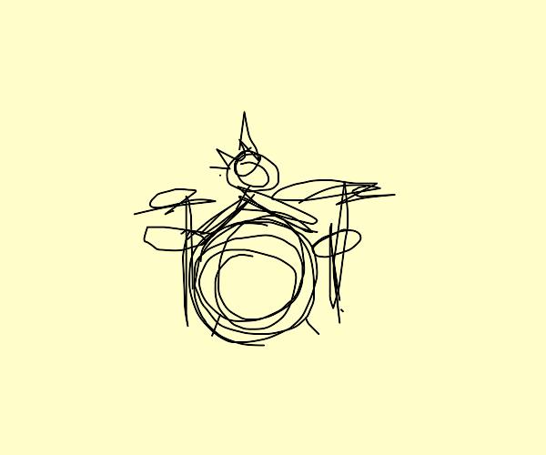 Punk rock drummer
