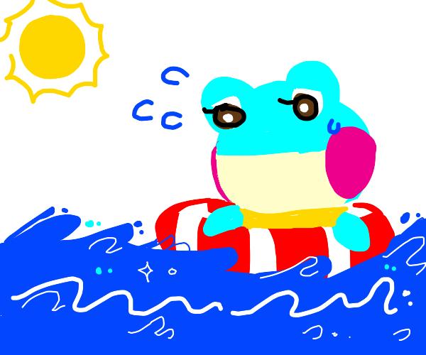 frog cant swim