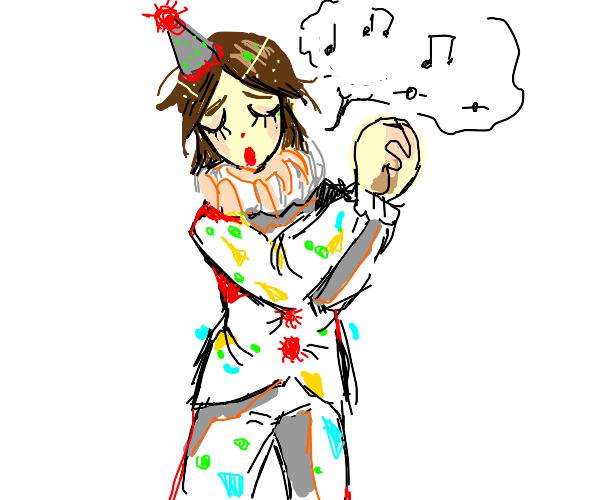 singing clown