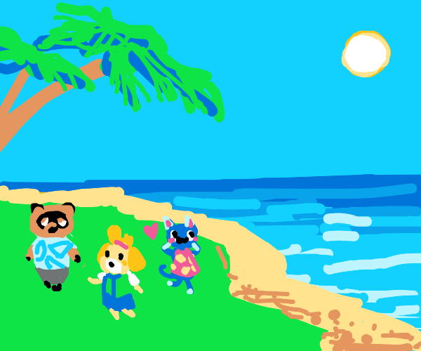 An island paradise populated by animal people