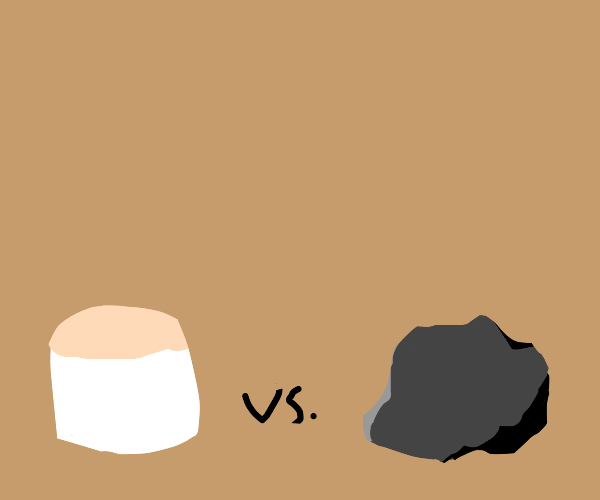marshmallow vs. charcoal