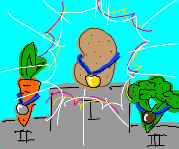 Potato won first place