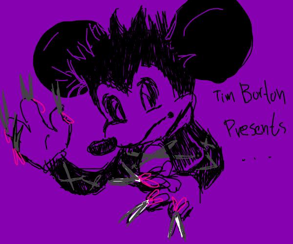 Mickey as Edward Scissorhands
