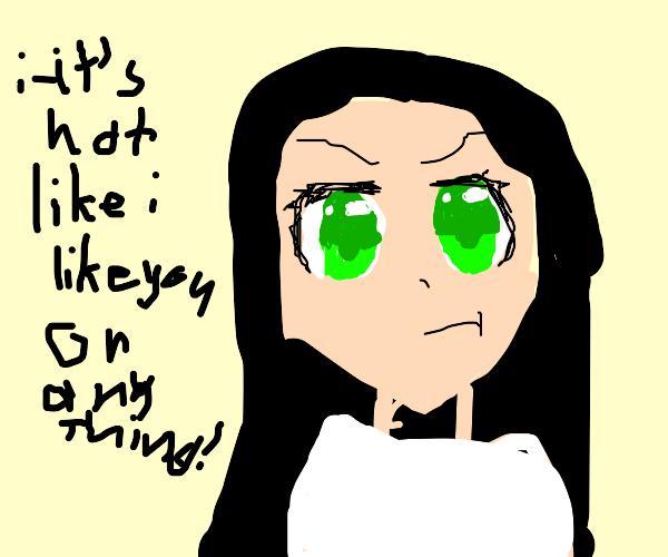 tsundere anime girl