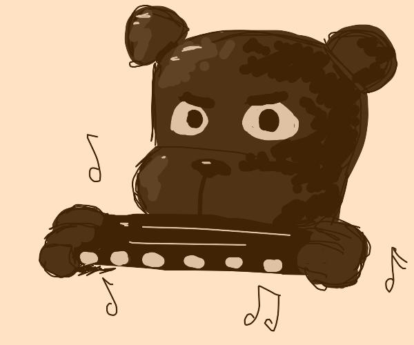 FNaF Fazbear playing a harmonica