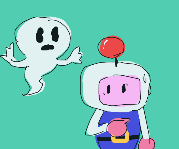 bomberman is haunted by a ghost