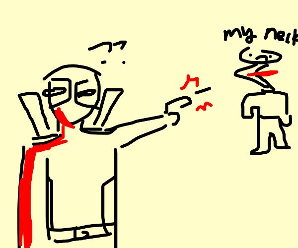 Deadpool kills guy with weird neck