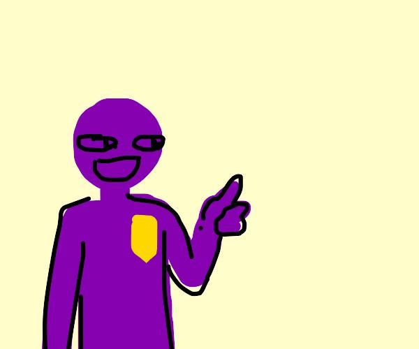 Purple guy giving thumbs up