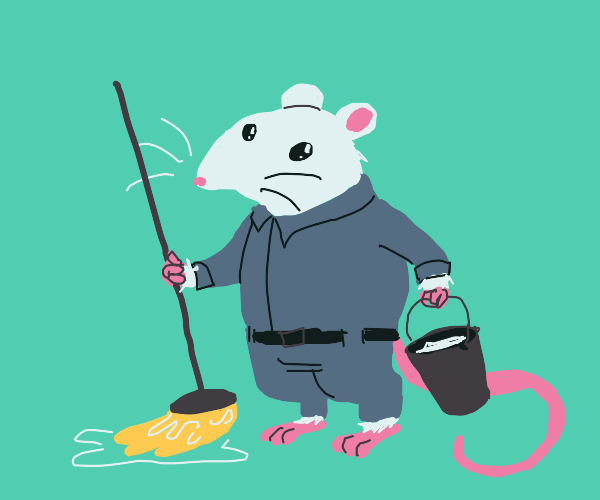 School mouse janitor