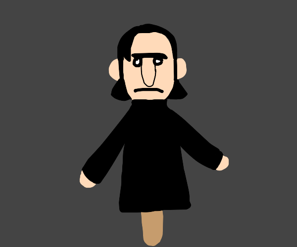 Snape Puppet on a Popsicle Stick